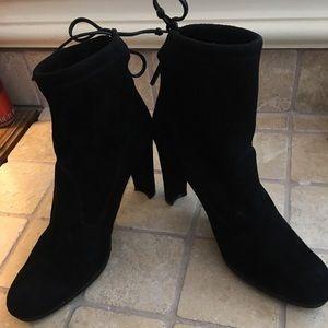 Stewart Weismann Black Suede Boots